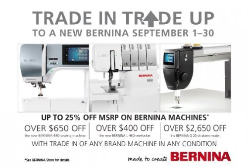 BERNINA trade in