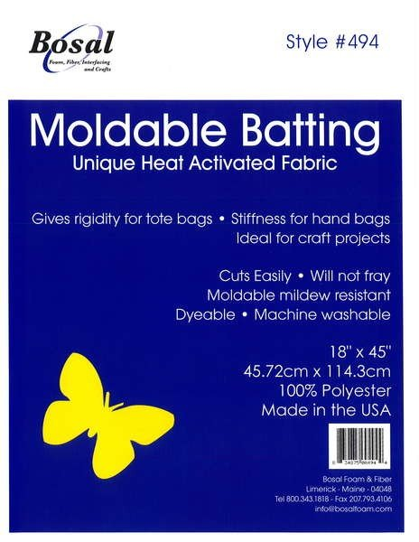 Moldable heat activated batting