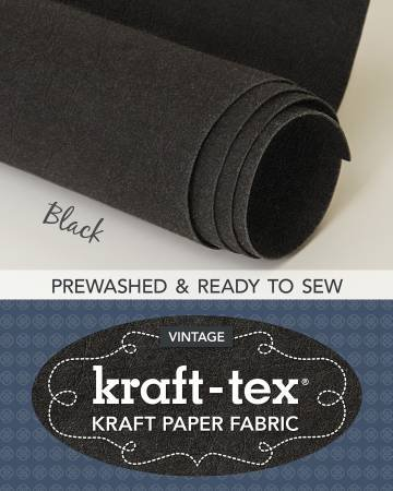 Kraft-tex Roll Black Prewashed