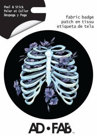 Romantic Edge Rib Cage - Adhesive Fabric 3in Badge