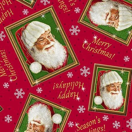 Tossed Santa Frames - Red 27261 -R - Santa's List