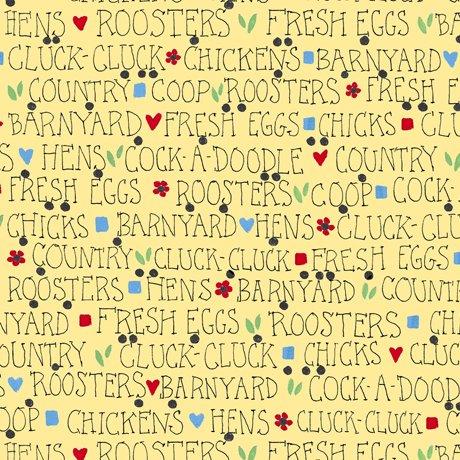 Barnyard Lingo - Light Yellow - Count Your Chickens
