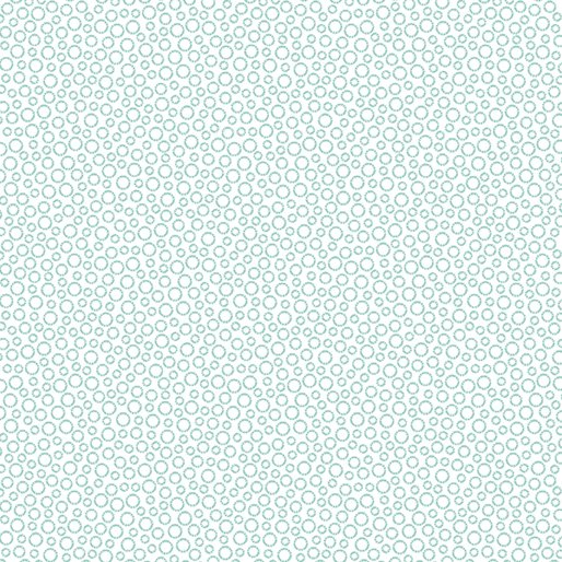 Circle Dots White/Lt.Turquoise - Hearty the Snowman