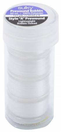 Polyester Prewound Bobbins in a Tube 4ct White