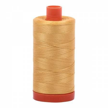 Mako Cotton Thread Solid 50wt 1422yds Spun Gold