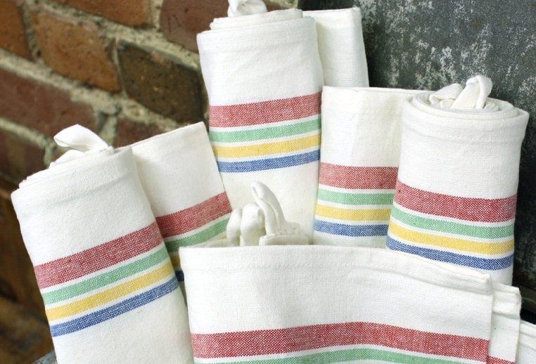 Multi Vintage Stripe Towel