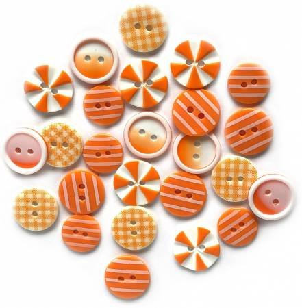Button Fusion - Orange Slices 20 assorted