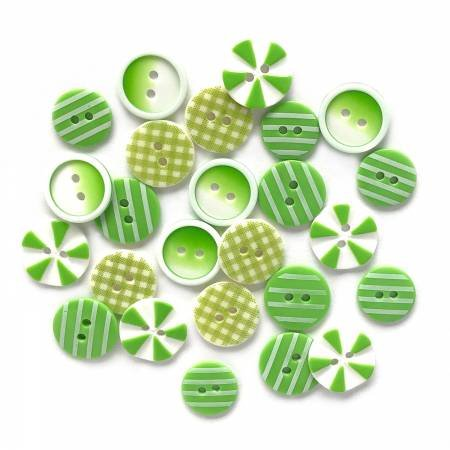 Button Fusion - Lime Lite 20 assorted