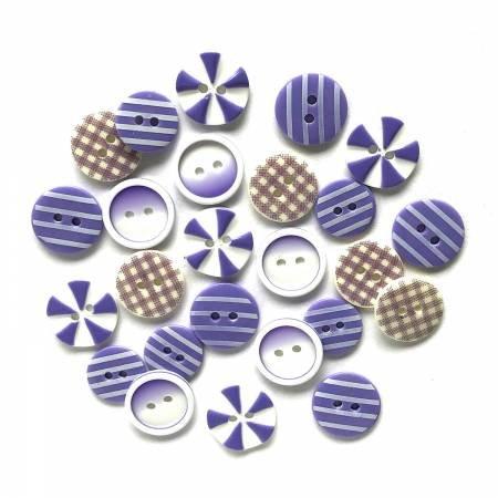 Button Fusion - Plum Crazy 20 assorted