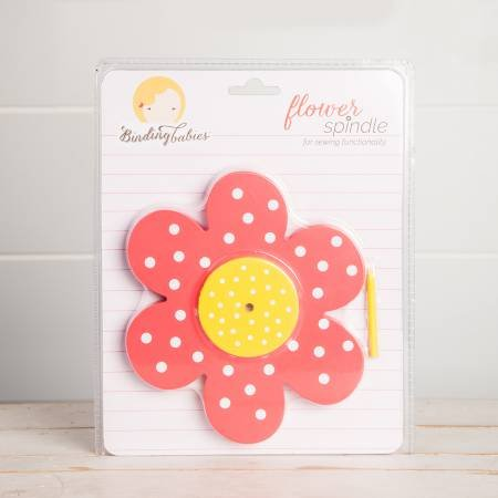 Flower Spindle Red White Yellow Dots