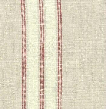 Moda Toweling Flax/Scarlet 16 inch wide
