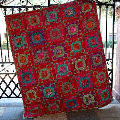 Gathering No Moss Quilt Kit - Scarlet