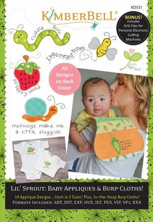 Lil Sprout Baby Appliques and Burp Cloths
