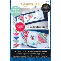 Kimberbell CD Let's Go Fly a Kite! Bench Pillow