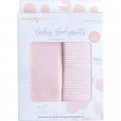 KDKB222 - Blush Infant Bodysuit Set; 9-12 Mo