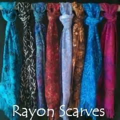 Hydrangea Rayon Scarf Island Batik