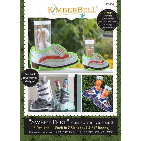 Sweet Feet Collection, Volume 2 Embroidery CD