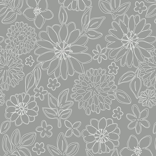 Knit Fabric  Wire Flower Foil K-7249