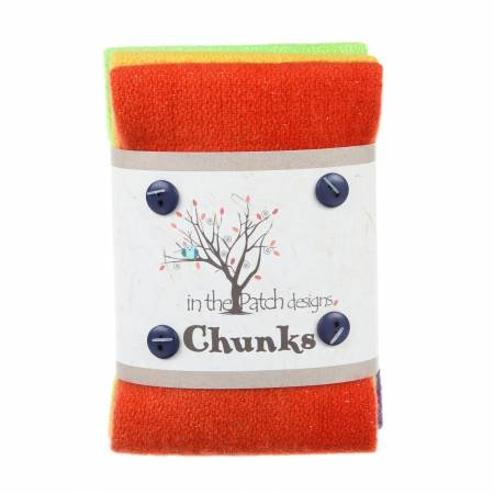 Twinkle Fall Wool Chunks 5pc 9in x 10in