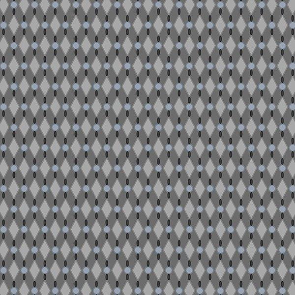 Stof Jersey KNIT - GREY w/ Diamond Shapes