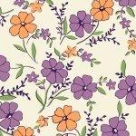 Aunt Grace   ORANGE PURPLE Floral