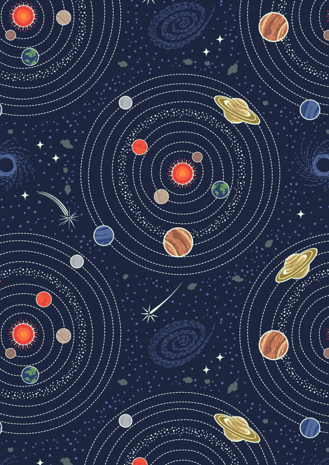 Midnight blue planets, Light Years by Lewis & Irene