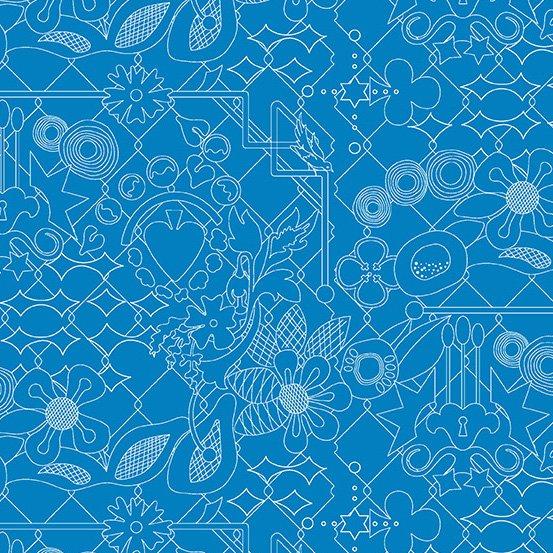 Alison Glass Sunprint 2017  Blue Bonnet