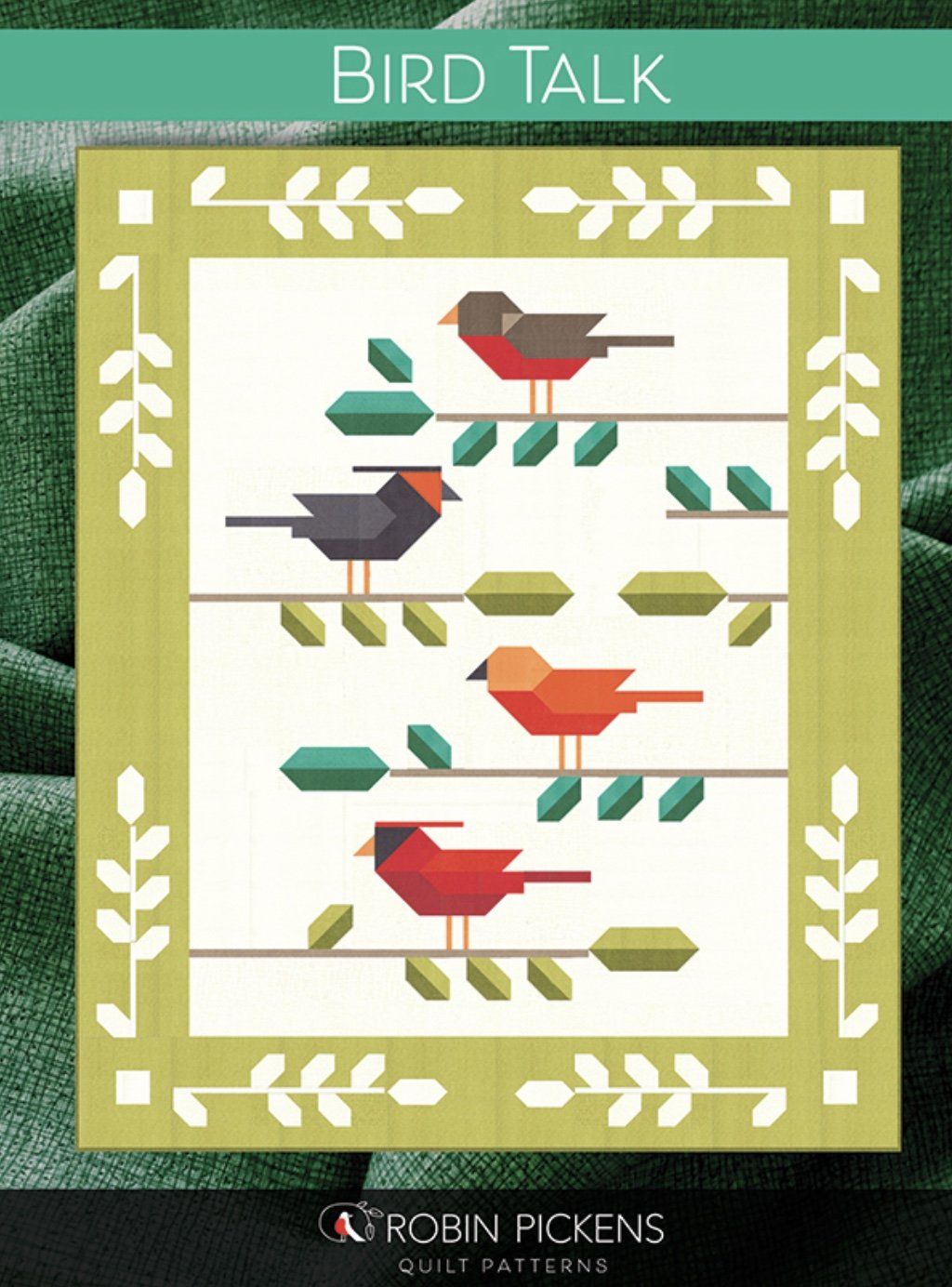 Bird Talk Twin Size Quilt Kit (includes pieced border)