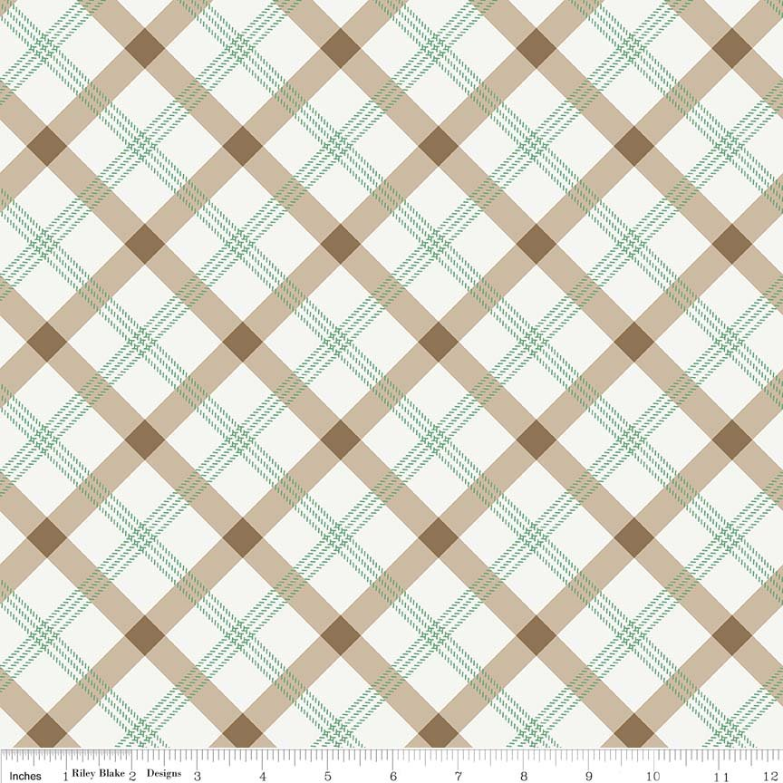 Apple Farm  Brown Plaid