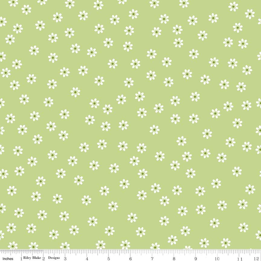 Lori Holt Sew Cherry 2 GREEN