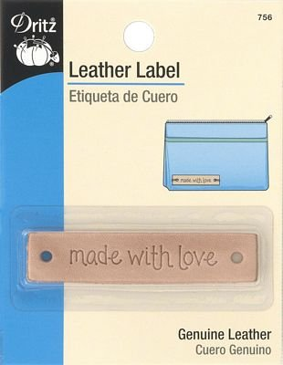 Leather label 'made with love'