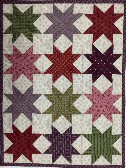Miniature Quilt--Many Mini Sawtooth Stars Kit