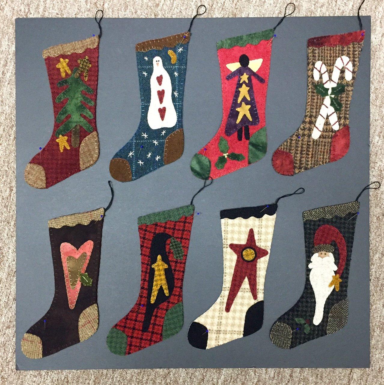 Primitive Gatherings 9 Wool Christmas Stockings