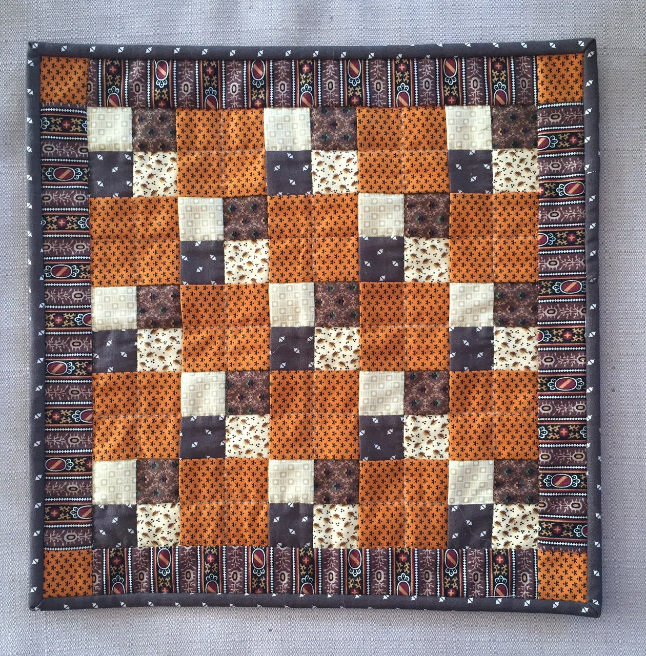 Miniature Quilt--Mini 4 Patch - Repro