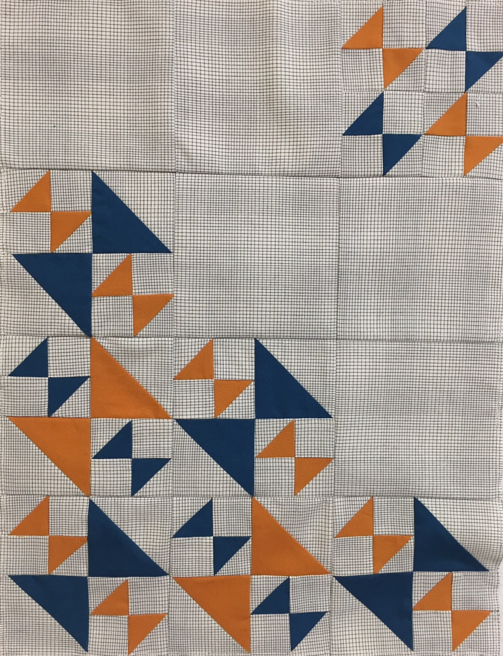 Miniature Quilt--Old Maid's Puzzle Variation