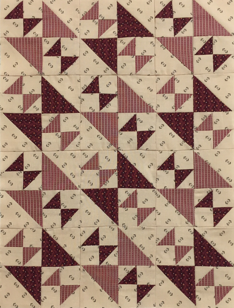 Miniature Quilt--Old Maid's Puzzle Variation - Reproduction