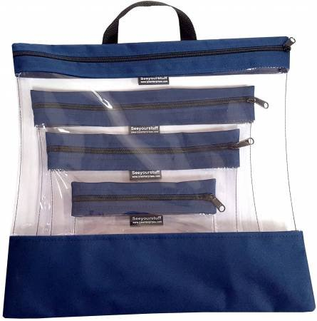 See Your Stuff 4pc Navy Bag Set