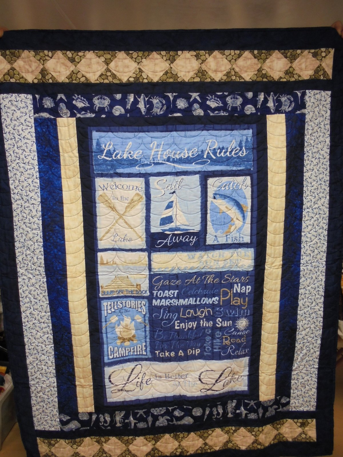 LAKE HOUSE RULES THROW QUILT KIT