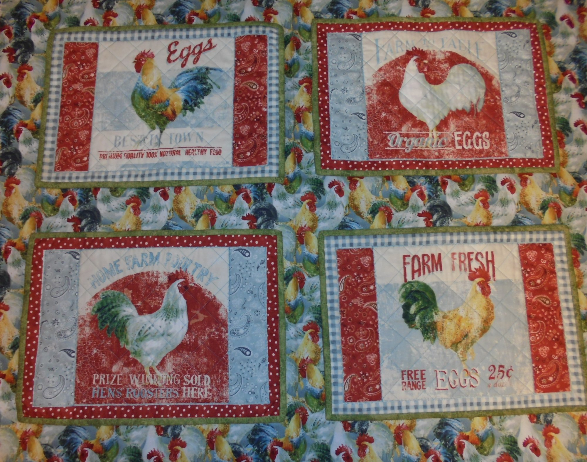 EARLY TO RISE PLACEMAT KIT - SET OF 4
