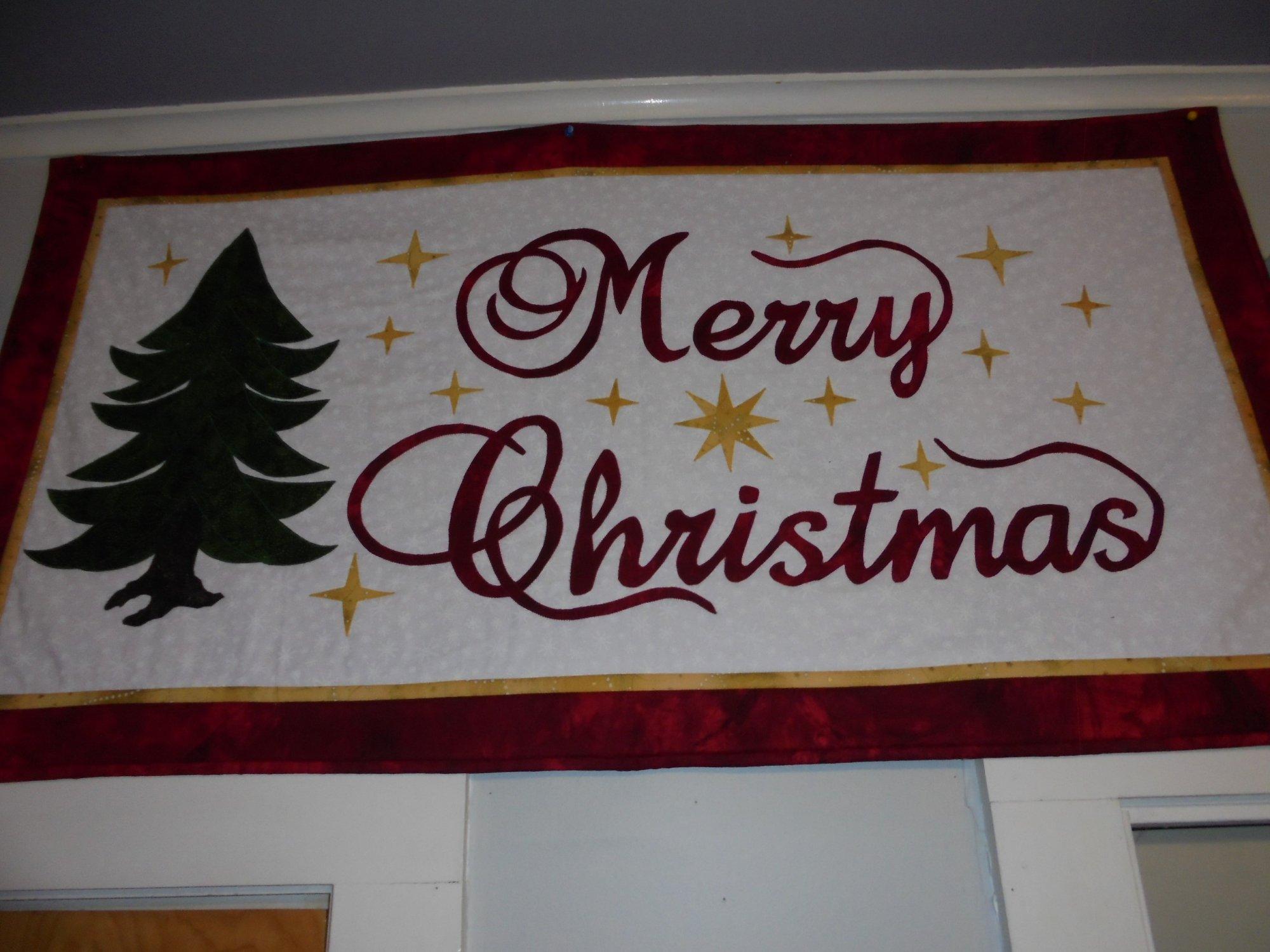 CHRISTMAS BANNER QUILT KIT