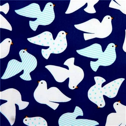 DOVES WHITE ON BLUE BY KAUFFMAN