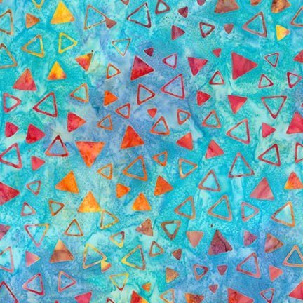 BATIK  TO THE POINT RAINBOW TRIANGLES by KAUFFMAN