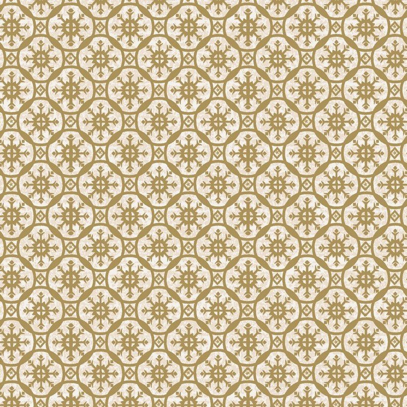 GLORIA GOLD MEDALLIONS on CREAM by STOF