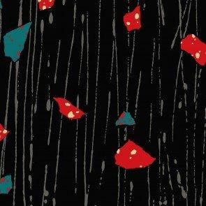ONCE AROUND BLACK W/ RED/BLUE SPLOTCH