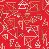MODERN TYKE TRIANGLES ON RED BY HENRY GLASS