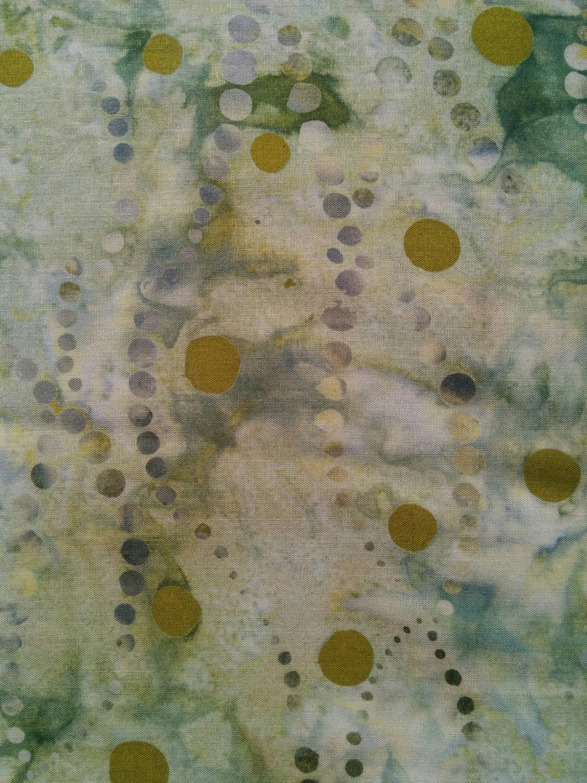 BATIK GREEN w/SQUARE by LONNI ROSSI