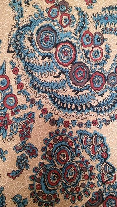 OHIO STAR BROWN/ PAISLEY by BLUE HILL FABRICS
