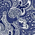 AVALON WHITE PAISLEY ON NAVY BY BLANK