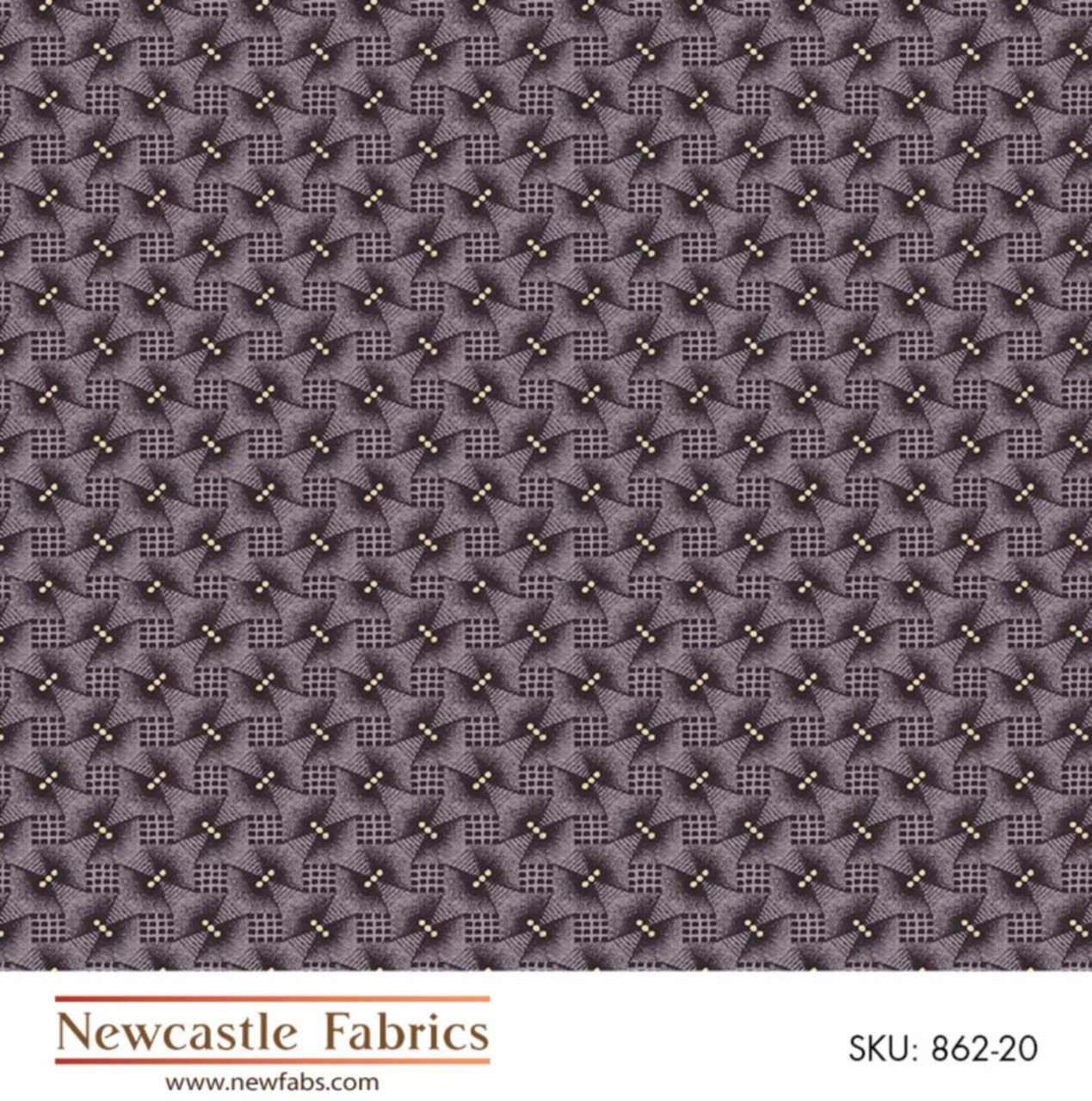 MOURNING GRAYS FUGITIVE GEOMETRIC WOVEN SQUARES by NEWCASTLE
