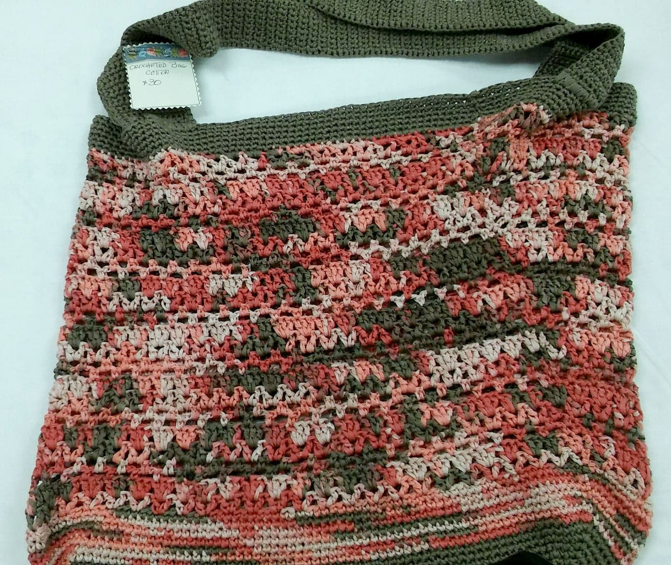 Crocheted Bag 100 percent Cotton